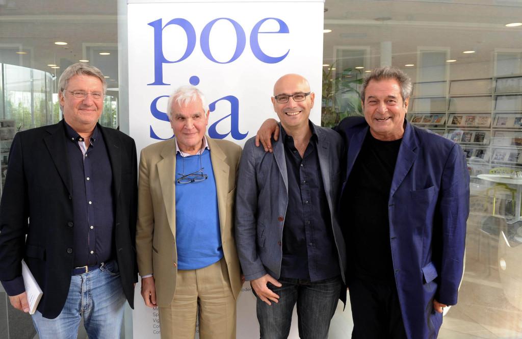 Alberto Bertoni, Nicola Crocetti, Roberto Galaverni ed Ennio Fantastichini