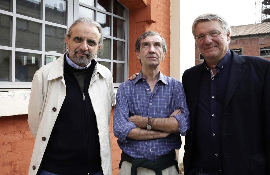 Cesare Viviani, Emilio Rentocchini e Alberto Bertoni