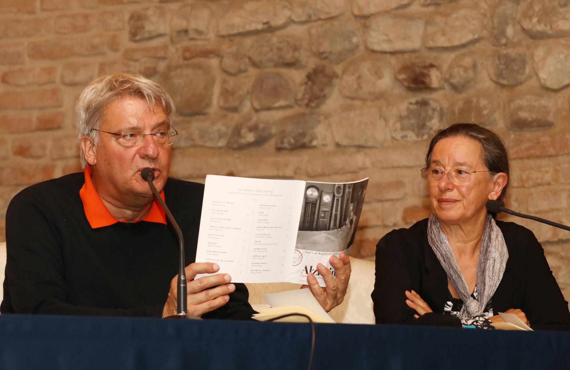 Alberto Bertoni e Franca Grisoni a Poesia Festival '17 - photo© Serena Campanini