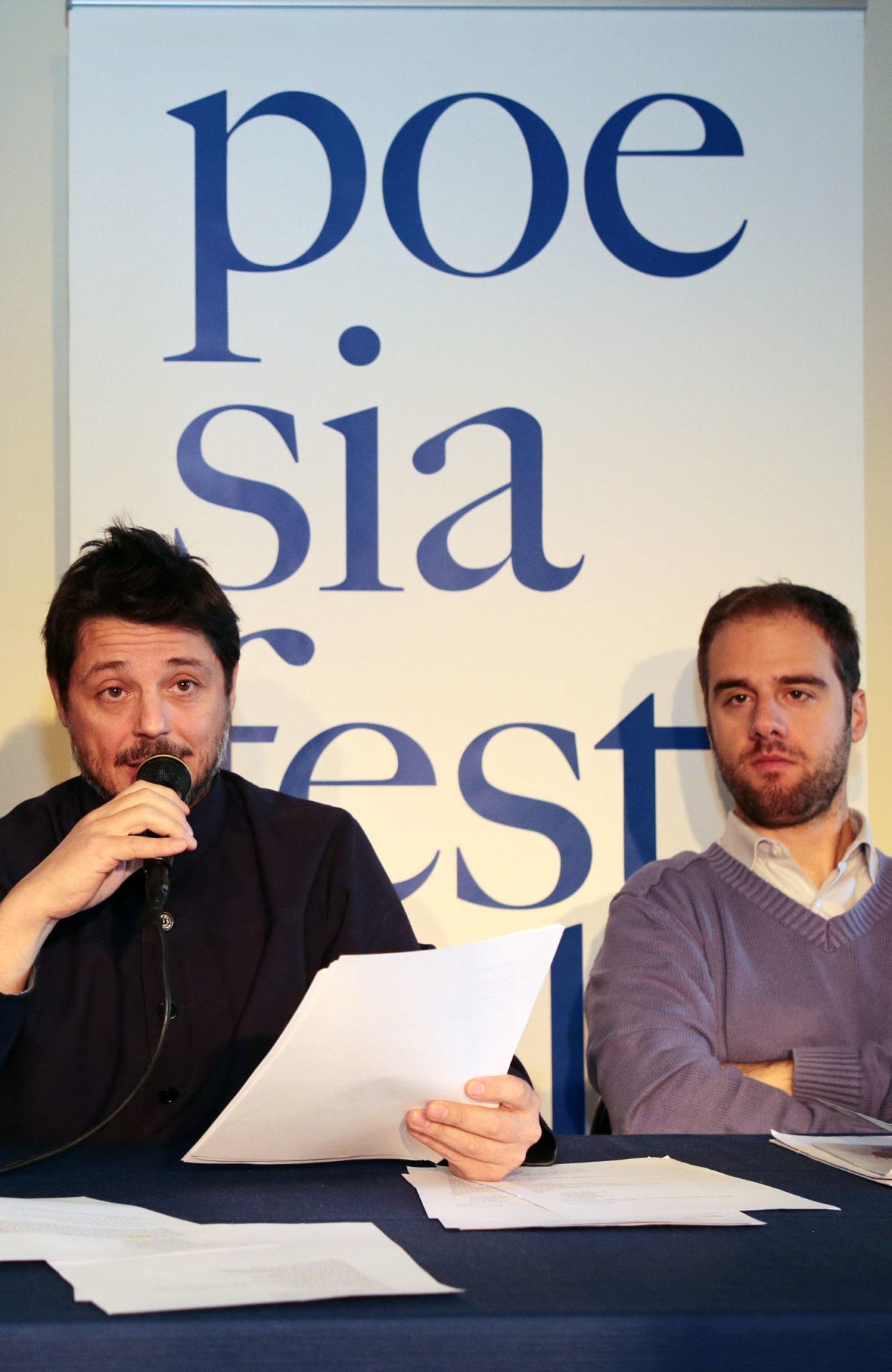 Dome Bulfaro e Guido Mattia Gallerani a Poesia Festival '17 - photo © Elisabetta Baracchi