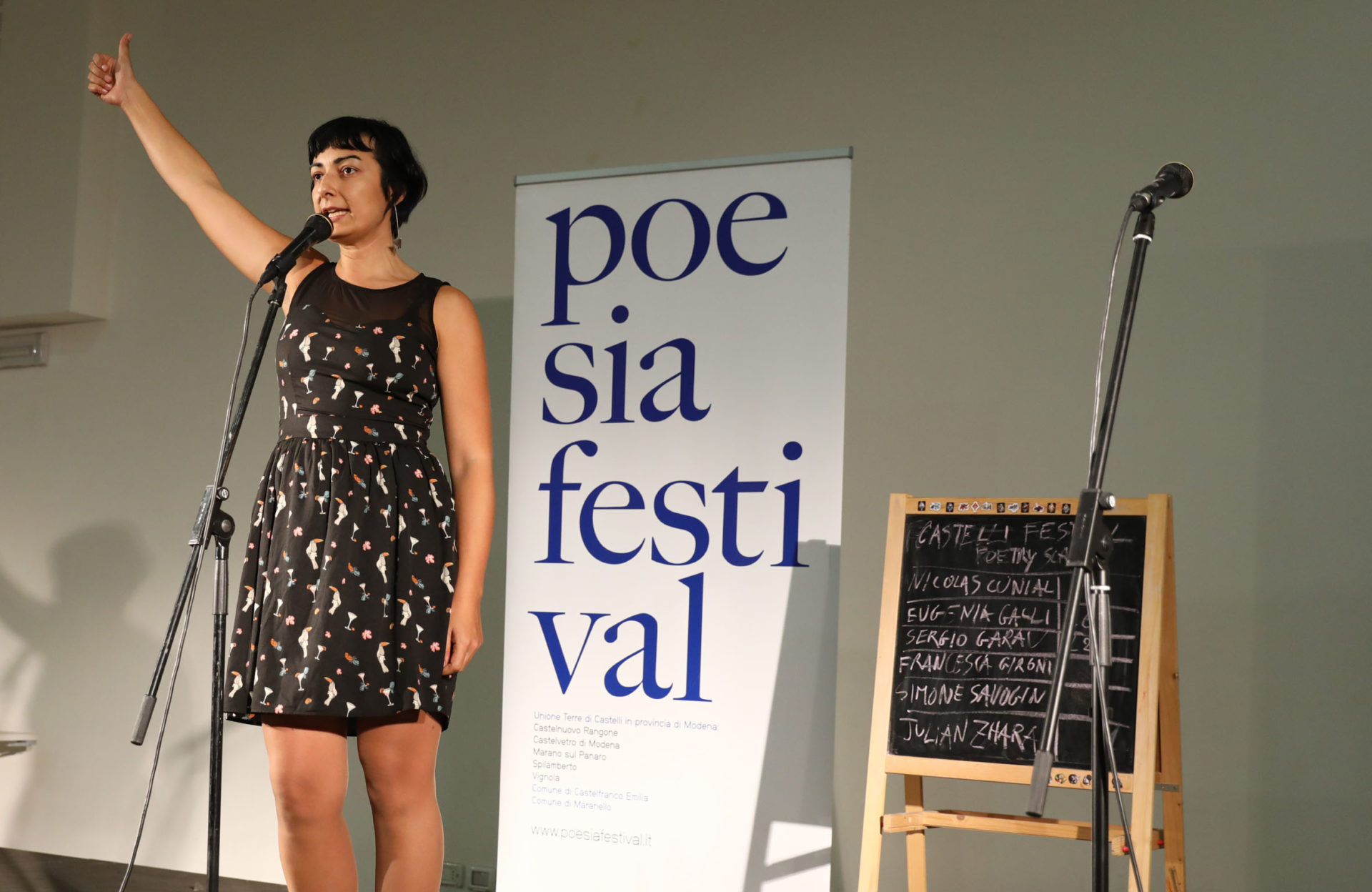 Francesca Gironi Castelli poetry Slam - Poesia Festival 2017 photo © Serena Campanini
