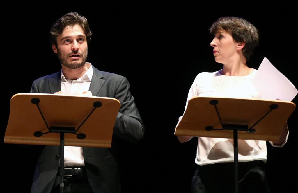 Lino Guanciale e Diana Manea Immagina John Lennon - Poesia Festival '17 photo © Serena Campanini