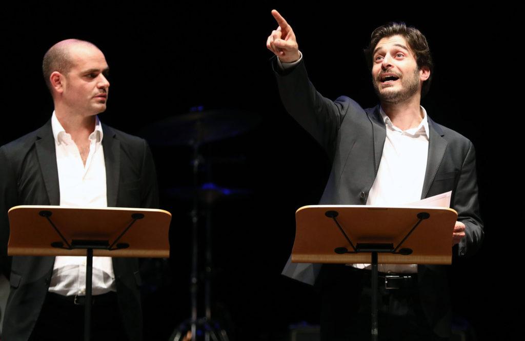 Michele Dell'Utri e Lino Guanciale Immagina John Lennon - Poesia Festival '17 photo © Serena Campanini