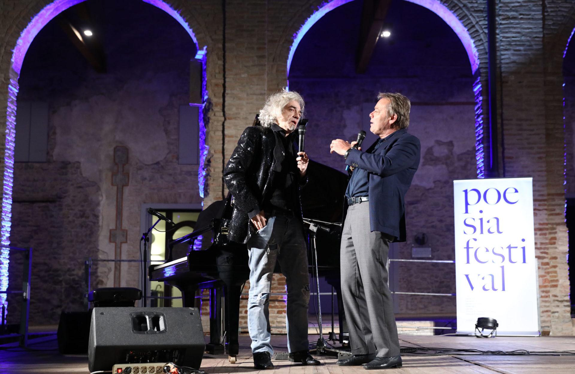 Morgan e Leo Turrini a Poesia Festival '17 -photo© Serena Campanini