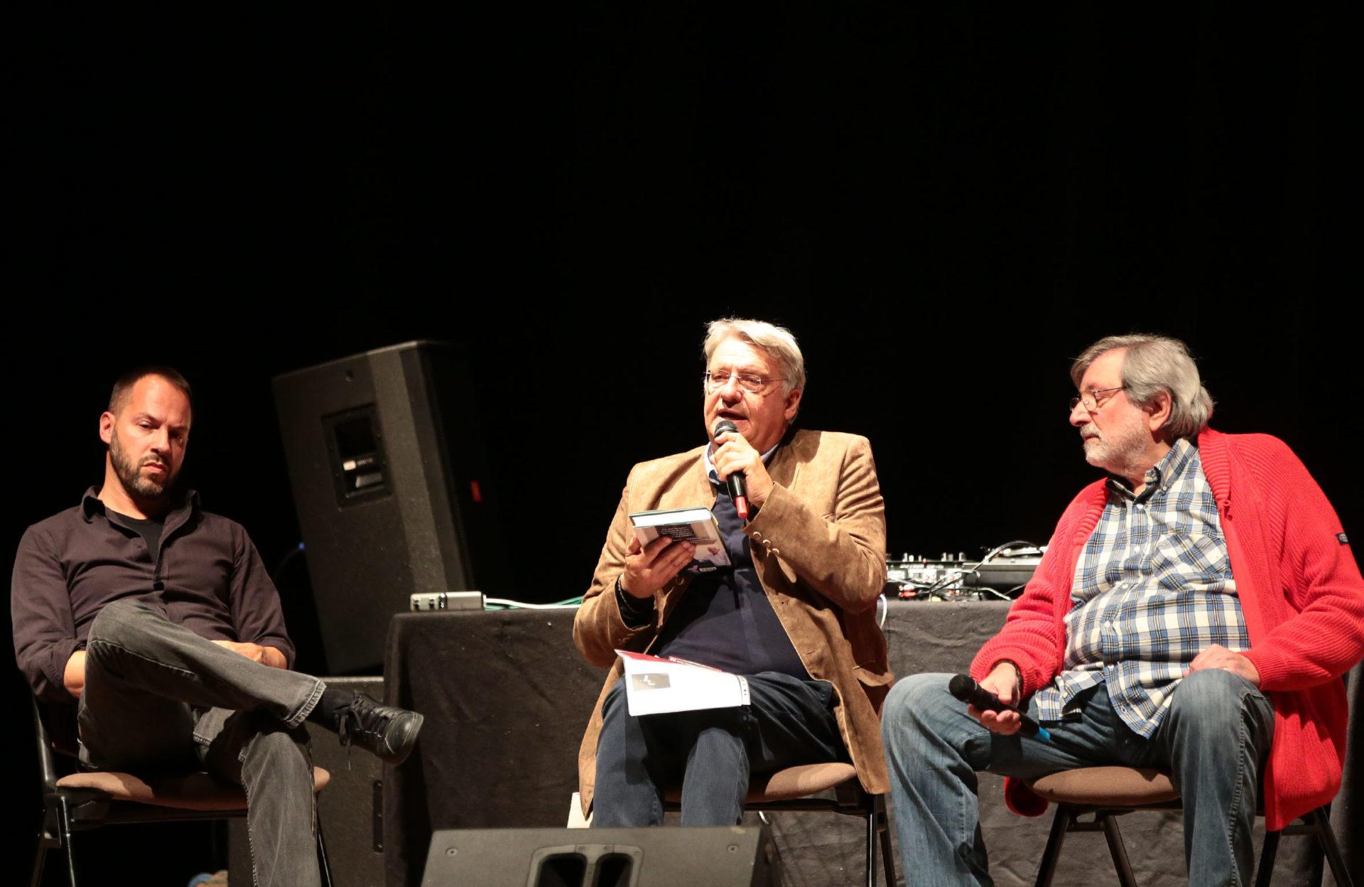 Murubutu, Alberto Bertoni e Francesco Guccini - photo © Elisabetta Baracchi