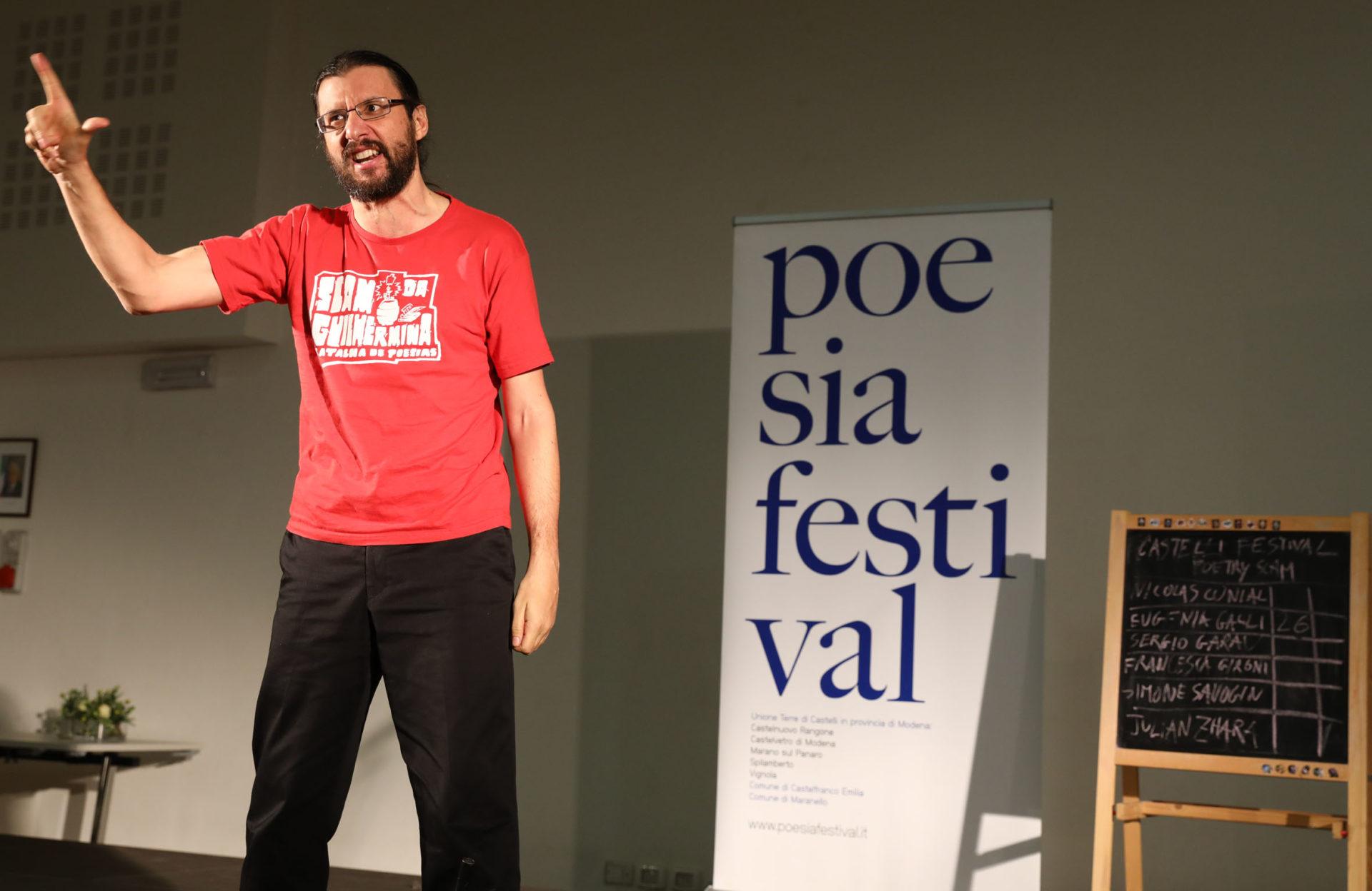 Sergio Garau Castelli poetry Slam - Poesia Festival 2017 photo © Serena Campanini