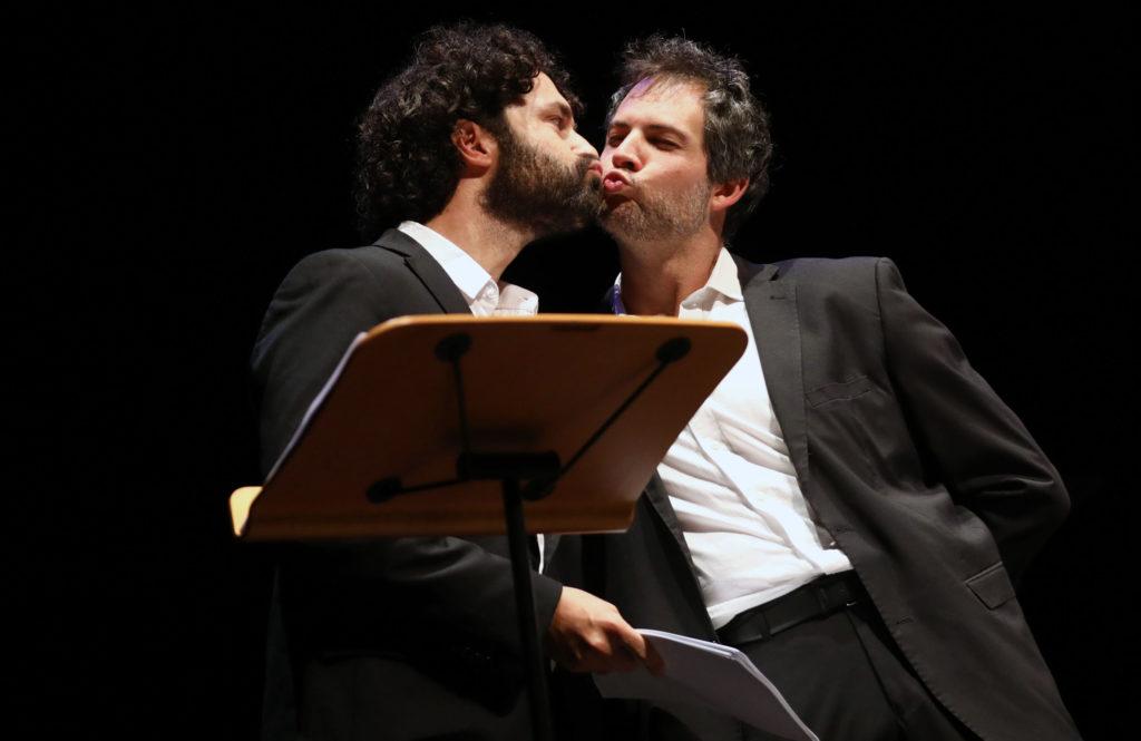 Simone Tangolo e Simone Francia Immagina John Lennon - Poesia Festival '17 photo © Serena Campanini