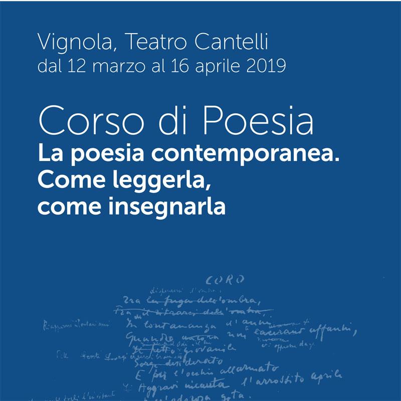 corso di poesia 2019 poesia contemporanea